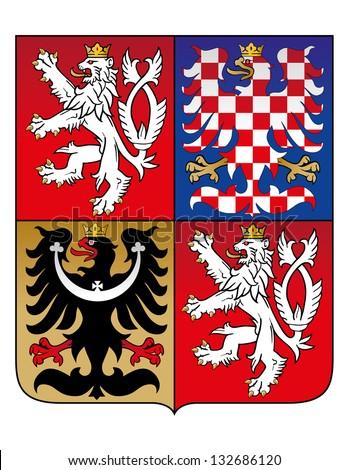 Vector Coat of Arm of Czech Republic