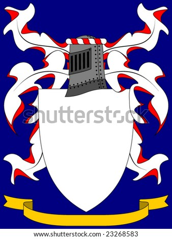 Space Coat Of Arms Vector Coat of Arms on a blue