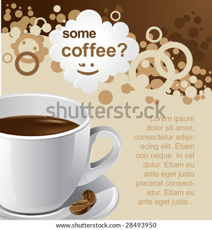 vector coffee background for your promotion. There are a number of SIMILAR backgrounds in my portfolio ;) Please, take a look !