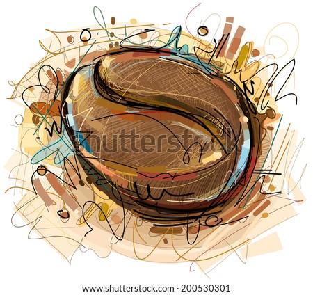 Vector Coffee Bean