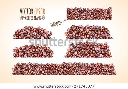 vector coffee beans background