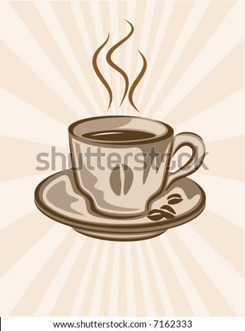 Vector coffee cup background