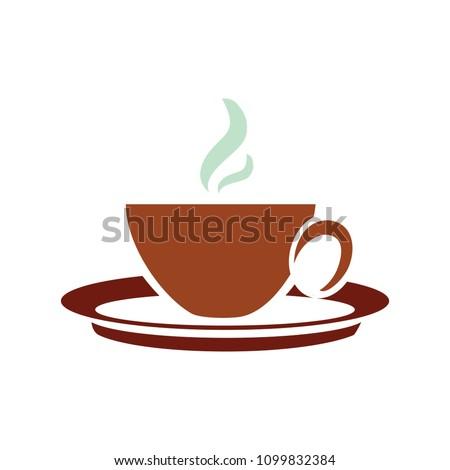 vector Coffee cup illustration, hot drink icon - beverage symbol