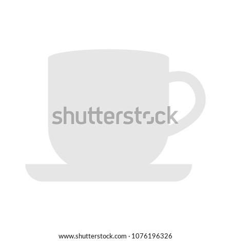 vector Coffee cup sign - hot cafe drink symbol, espresso cappuccino symbol