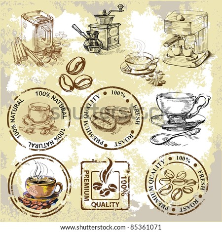 vector coffee elements