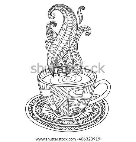 vector coffee or tea cup with