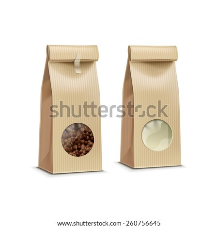 Vector Coffee Packaging Package Bag Isolated on White Background