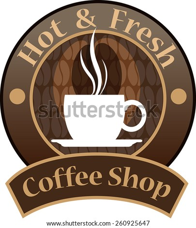 vector  coffee shop logo for