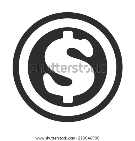 Vector Coin Flat Icon. Sign of money