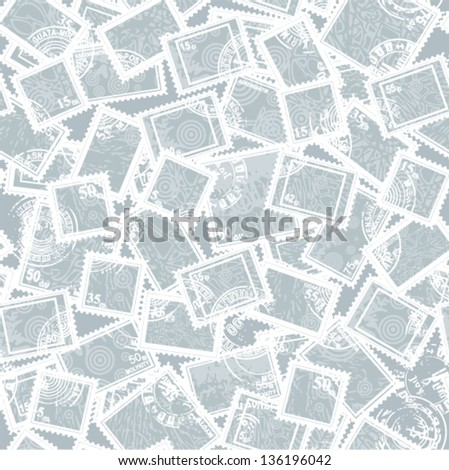 Vector collection - abstract postage stamps (seamless)