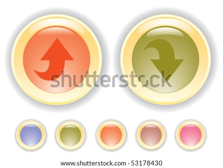 Vector collection buttons with arrow icon