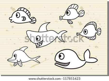 vector collection fish illustration