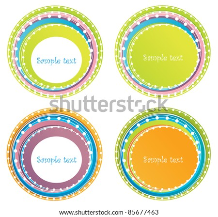 vector collection of abstract round forms