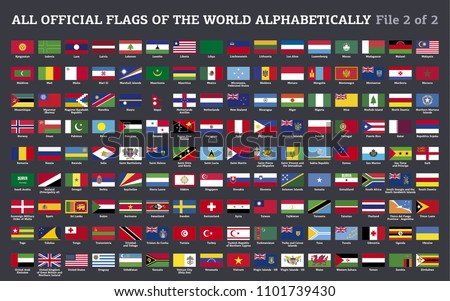 vector collection of all flags