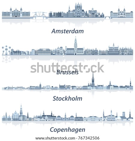 vector collection of amsterdam