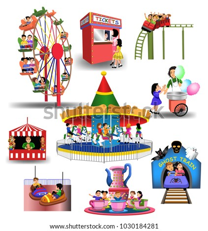 vector collection of amusement
