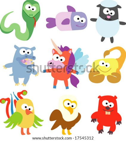 vector collection of animals 29