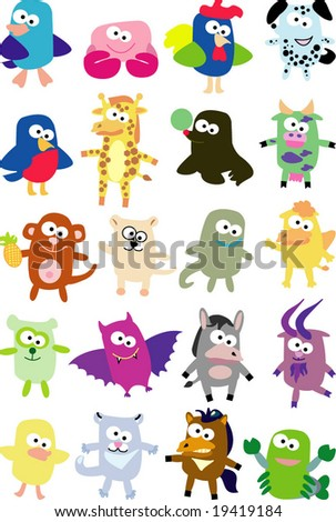 vector collection of animals 37