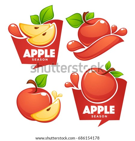 vector collection of apple