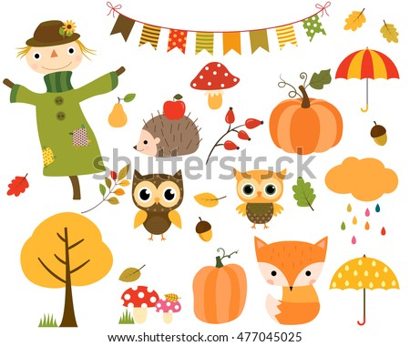 vector collection of autumn