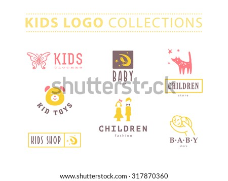 vector collection of baby logo
