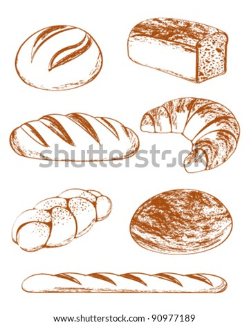 Vector Collection of breads