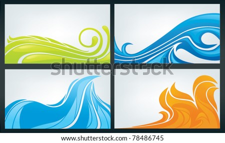 vector collection of business cards