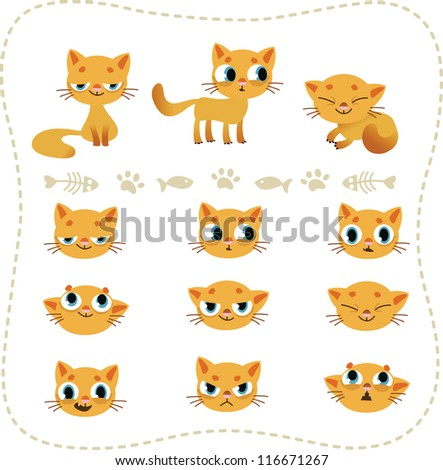 Vector collection of cats