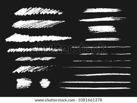 Vector collection of chalk strokes.
