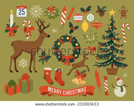 vector collection of christmas