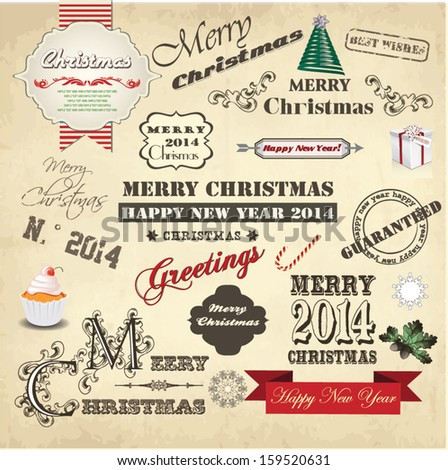 Vector collection of Christmas Ornaments #159520631