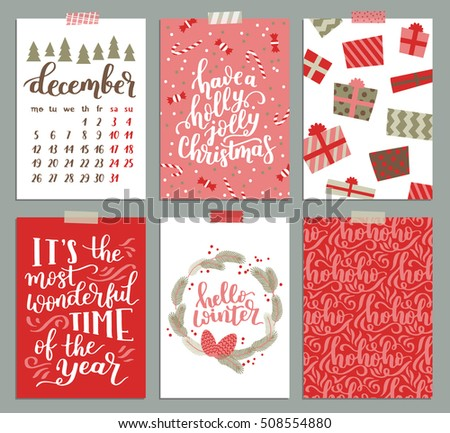 Cute christmas card download free vector art stock graphics vector collection of christmas poster templates christmas set of christmas greeting cards bright colors pronofoot35fo Gallery