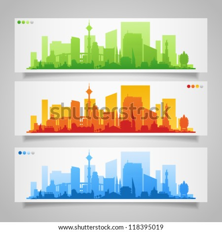 vector collection of city