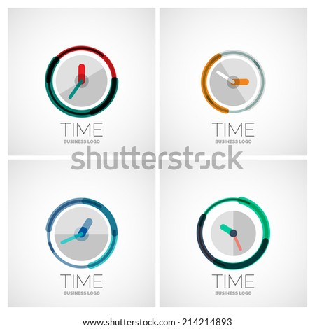 vector collection of clock