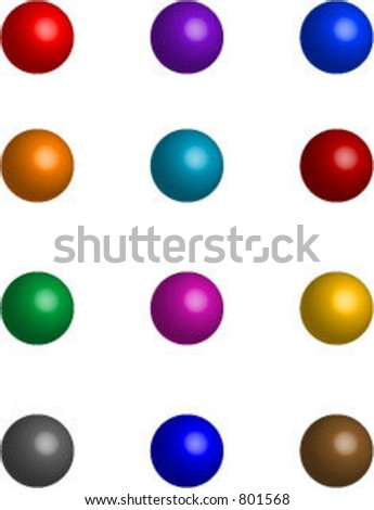 Vector collection of colorful balls