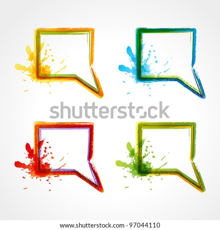 Vector collection of colorful speech bubbles. EPS 10 - stock vector