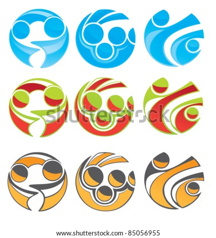 vector collection of community symbol, business team and success