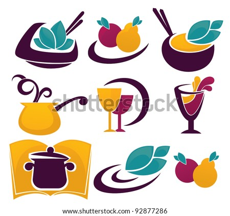 vector collection of cooking symbols and icons for your menu
