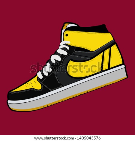 vector collection of cool sneakers. sports sneakers, skater. vector