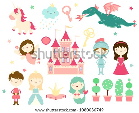 vector collection of cute fairy