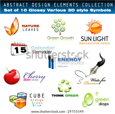 vector collection of 3d design