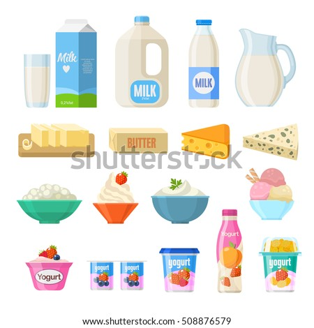 vector collection of dairy