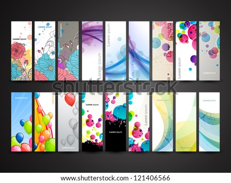 Vector Collection of Decorative Horizontal Banners