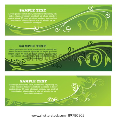 vector collection of eco headers