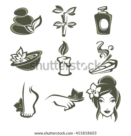 Royalty free spa icons 105433256 stock photo for 560 salon grand junction