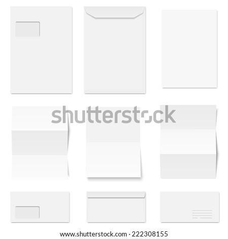 vector - collection of envelopes and writing paper