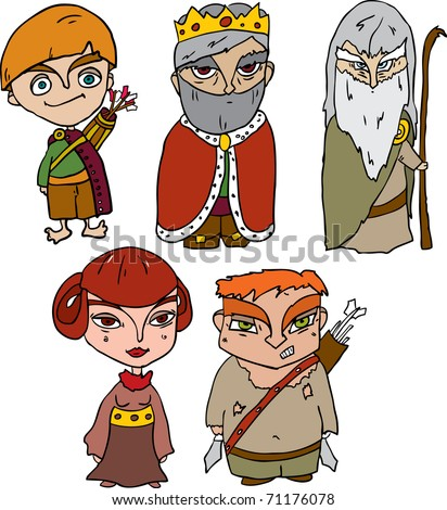 vector collection of fairy-tale characters