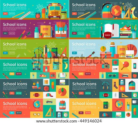 vector collection of flat