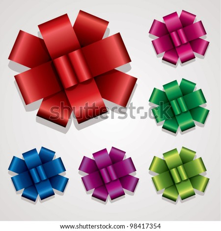 vector collection of gift bows
