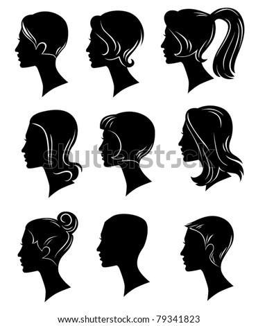 vector collection of hairstyles